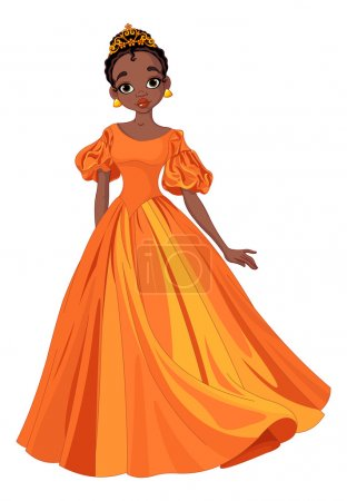 Illustration pour Illustration de la belle princesse africaine - image libre de droit