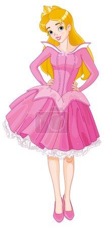 beautiful girl dressed in costume