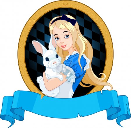 Alice holds white rabbit