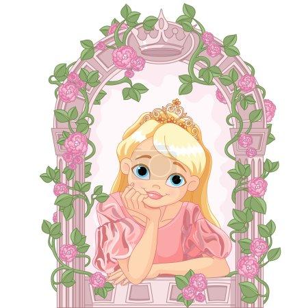 Princess looking through window