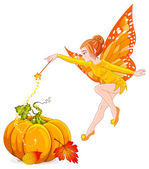 flying autumn fairy