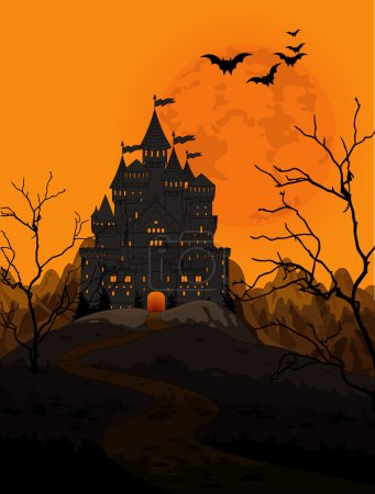 Kingdom on night background
