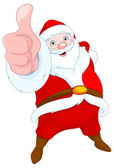 Santa Claus shows thumb up