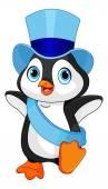 Nový rok baby tučňáka