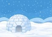 igloo winter background