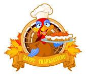 turkey serving pumpkin pie