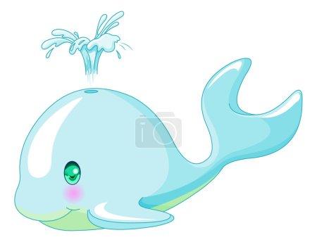 very cute whale