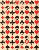 background with playing card symbols