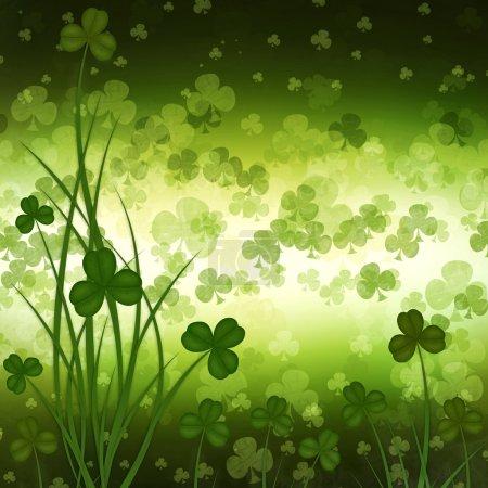 Carte de voeux de jour de St. Patrick sur le fond vert