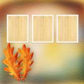 Grunge paper design in scrapbooking style with photoframe and au