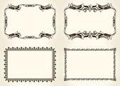 Vector frameworks set Ornate and vintage design elements