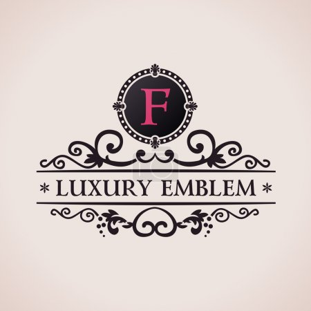 Luxury logo. Calligraphic pattern elegant decor elements. Vintage