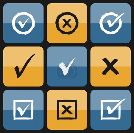 Vector checkbox Set of hand drawn Icons