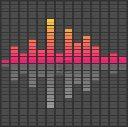 Abstract sound waves equalizer. Audio pulse music