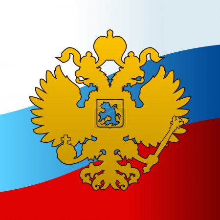 Russian coat of arms double-headed eagle emblem. Symbol