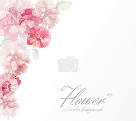 Illustration for Watercolor flowers peonies with transparent elements. EPS10 format - Royalty Free Image