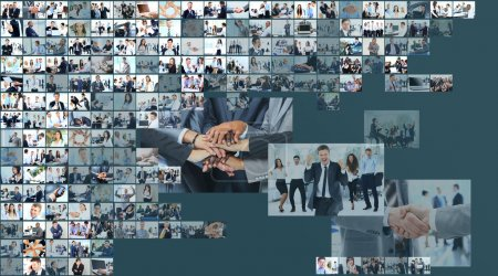 Photo for Business collage made of many business pictures - Royalty Free Image