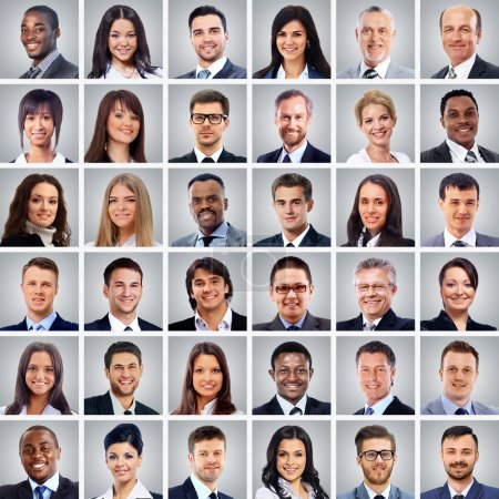 Collage verschiedene Gesichter Ausdruck Menschen Konzept
