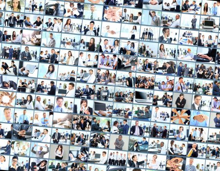 collage made of business pictures