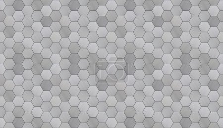 Futuristic Hexagonal Aluminum Tiled Seamless Texture