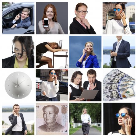 Business collage made of many different pictures about finances