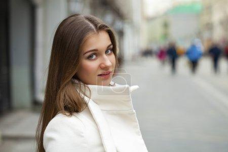 Young beautiful brunette woman