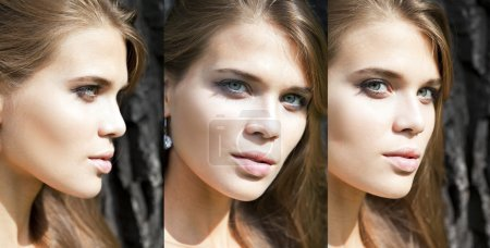 Photo for Portrait close up of young beautiful three women - Royalty Free Image