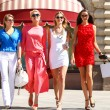 Portrait of a beautiful young four women walk on R...