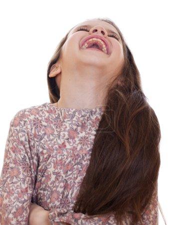 Beautiful girl very fun laughing