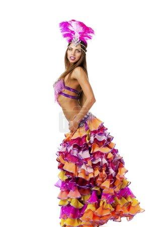 Schöne Karnevalstänzerin, tolles Kostüm