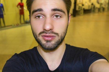 I love selfie! Handsome young man