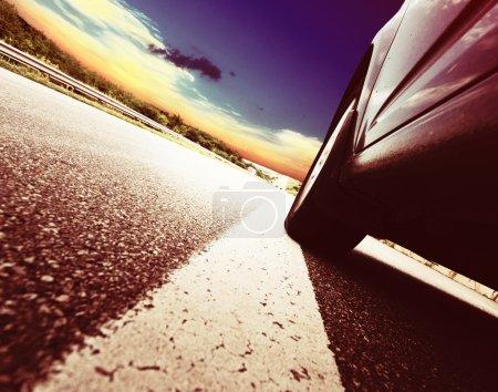 design background Trucks and transport.Highway and delivering.
