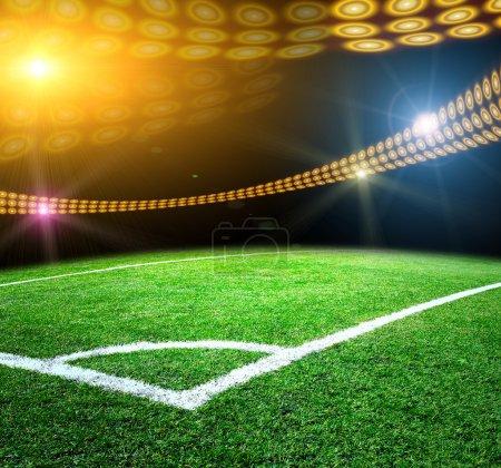 Photo pour Stade de fond s'allume et clignote - image libre de droit