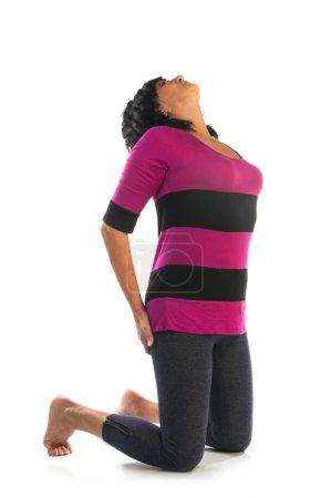 Woman in asana yoga pose