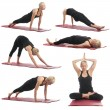 Постер, плакат: Woman doing yoga exercises
