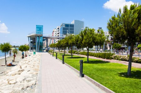 Promenade alley in Limassol
