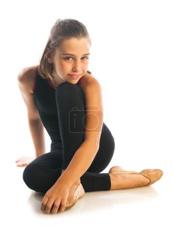 beautiful girl gymnast