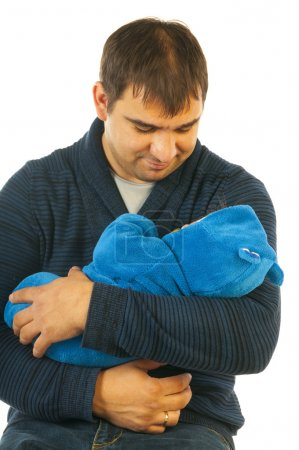 Father's day. Father holding child