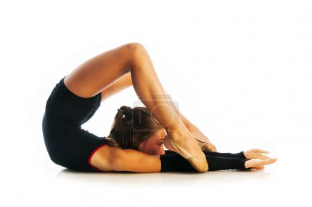 Girl doing gymnastic exercise
