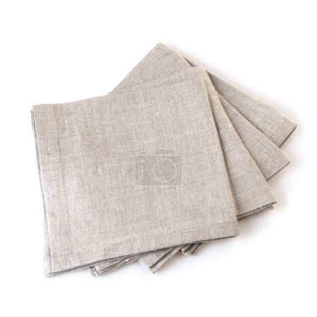 grey folded cotton napkins