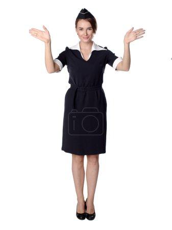 Air hostess in uniform