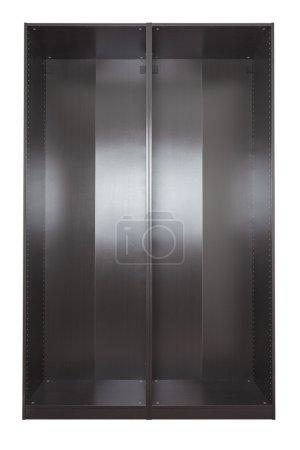 Photo pour Images de garde-robe vides brun-noir. Isolé - image libre de droit