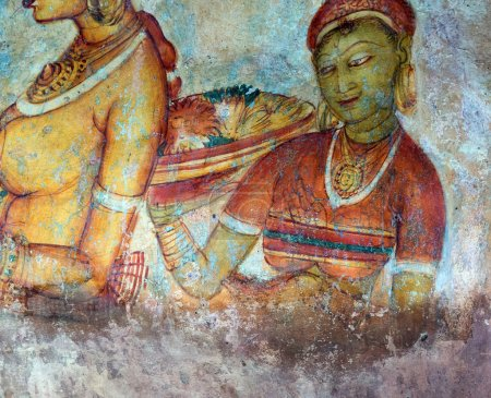 Ancient frescos on the wall