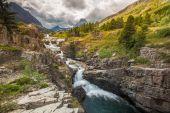 Vodopád v národním parku glacier
