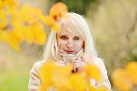 Lady in fall