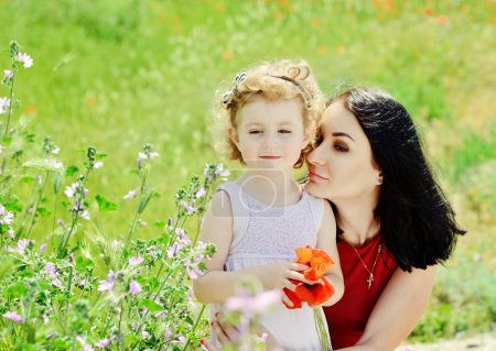 mother and toddler daughter