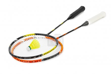 Badminton racket and shuttlecock
