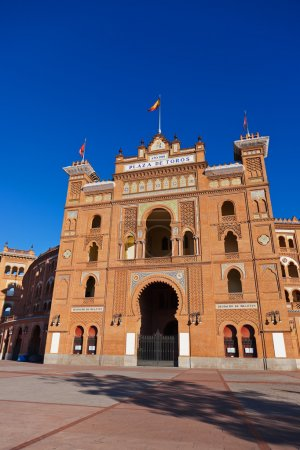 Bullfighting corrida arena in Madrid Spain