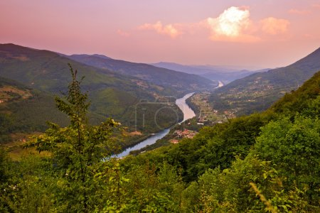 River Drina - national nature park in Serbia