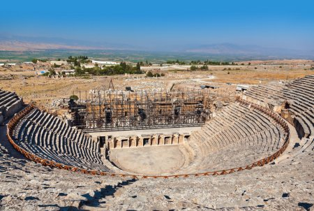 Amphitheater ruins at Pamukkale Turkey